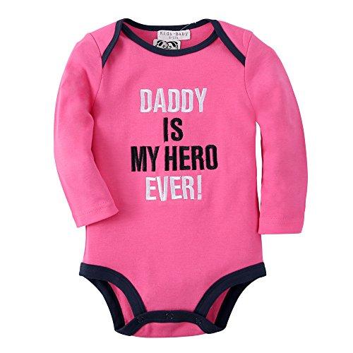 Sanlutoz Mädchen Langarm Body Baumwolle Wickelbody Strampelhöschen (0–6 Monate, R07 HERO) (Baby Mädchen Eule Kostüme)