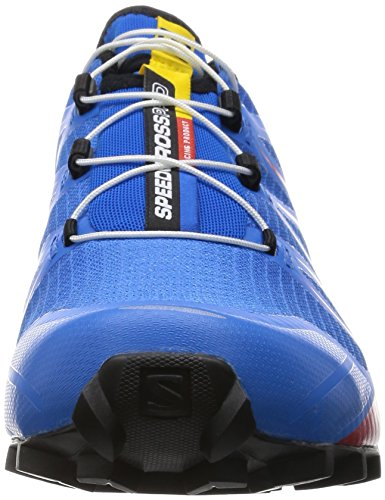 Salomon Speedcross 4 CS, Chaussures de Running Entrainement Homme Multicolore (Bright Blue/Radiant Red/Black)