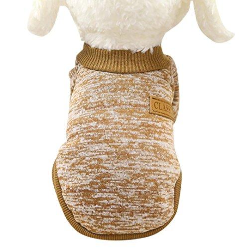 Hunpta 8 Farbe Haustier Hund Welpe klassische Pullover Pullover Kleider warme Pullover Winter (M, ()