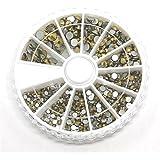 Présentoirs pour Bijoux - Caja de accesorios de strass para pegar (cristal, 550 unidades), color dorado