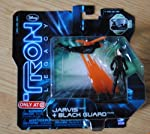 TRON LEGACY 2 PACK OF ACTION FIGURES. INCLUDES JARVIS & BLACK GUARD 2 BASES & 2 BASE CONNECTORS0