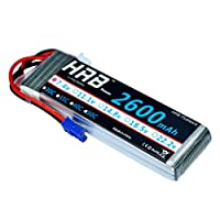 HRB RC Lipo Battery 7.4V 2600MAH 30C 2S Battery Pack Replacement with EC2 Plug For RC Racing Drone Boat Car Truck Model from Yowoo