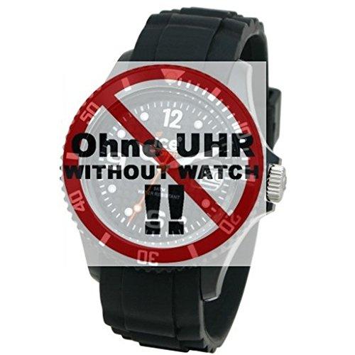 Ice-Watch Uhrband Wechselarmband Original Ersatzband SI S.09 Uhrenarmband Silikon 22 mm Schwarz