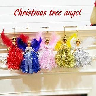Linier Adornos para árboles de Navidad Colgantes Colgantes de ángeles Adornos con alas de Plumas Se Adapta para niños Manualidades artísticas Decoraciones de Adornos para árboles de Navidad efficient