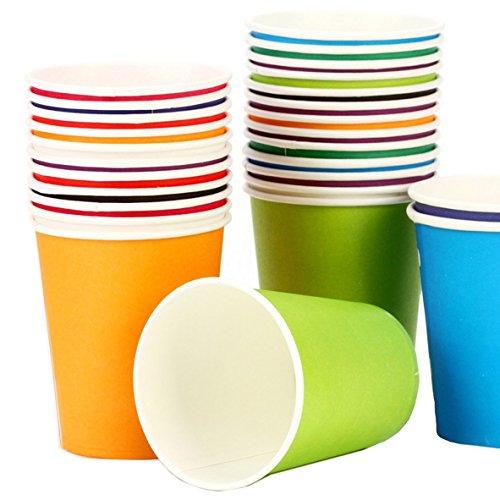 nweg Becher, Pappbecher für DIY (sortiert Farben, 7Unze, 100Zählen) (Urlaub Cupcake Liner)