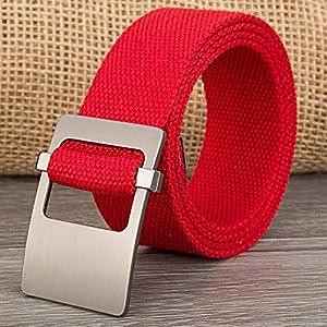 CHOUBAGUAI Gürtel Männlicher Gürtel Doppelring Gürtelschnalle Für Männer Casual Style Taktischer Gürtel Für Jeans