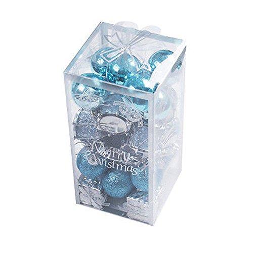 DELEY 32pcs Bagattelle Decorazioni Natalizie Assortiti Ornamento Palle Palline Jingle Bells Regali Partito Natale Decor Vacanza Addobbi Blu