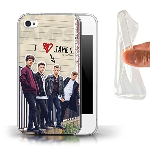 Officiel The Vamps Coque / Etui Gel TPU pour Apple iPhone 4/4S / Pack 5pcs Design / The Vamps Journal Secret Collection James