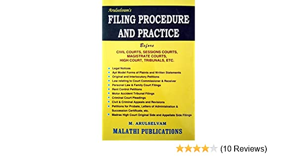 Buy Filing Procedure and Practice Before Civil Courts