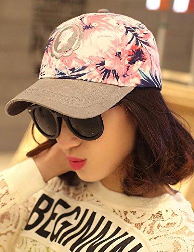 Chapeau de soleil femelle été mode impression Sunscreen chapeau de plein air ombre casquette de baseball Plage Cap ( Couleur : 1 ) 2