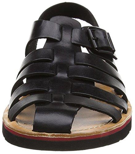 Clarks Pennard Sea, Spartiates homme Noir (Black Leather)