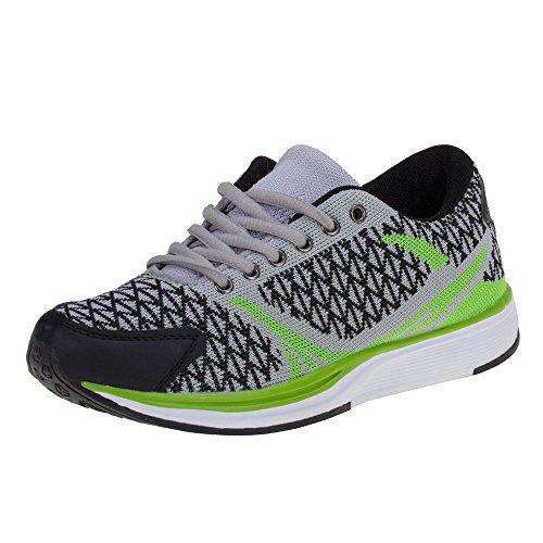 Damen Schuhe Sneakers Geschlossene Zehenkappe Normal Schnürsenkel Low-Top Grau Grün