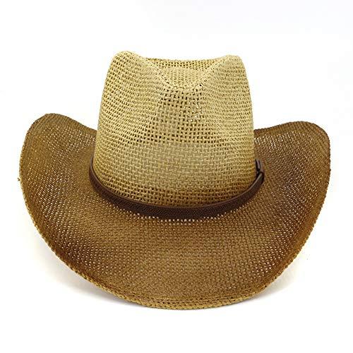 ray Cowboy Strohhut, Männer und Frauen im Freien am Meer Sonnenhut, beige, M ()