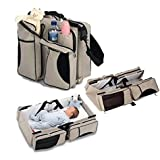 Baby Diaper Bag Cum Baby Travel Bed Bag 3 In 1 -Diaper Bag, Travel Bed - Assorted Color