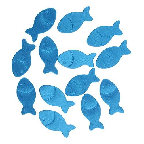 Homyl 200 Stück Konfetti Fische Blau Geburt Taufe Tisch Dekoration