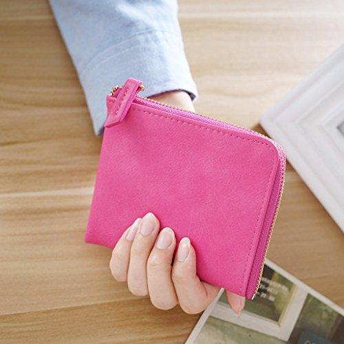 Borsa della moneta di Miss Bao Qian breve paragrafo studenti Zipper Mini borsa del portafoglio Portafoglio ( colore : Beige ) Rose red