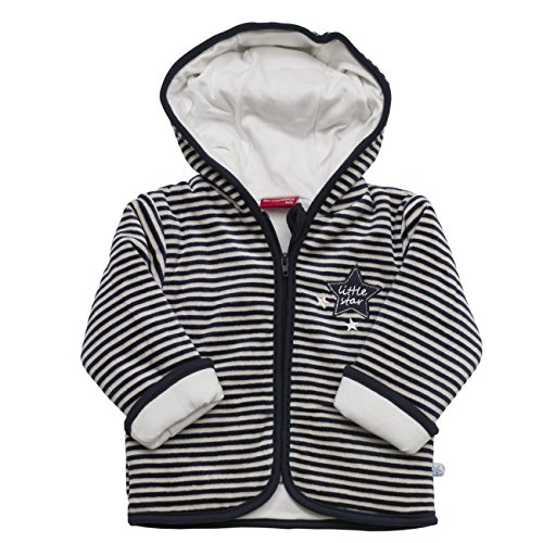 SALT AND PEPPER Baby-Jungen Sweatshirt NB Jacket Little Star Stripe, Blau (Cobalt 484), 62
