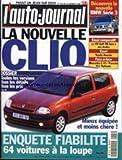 AUTO JOURNAL (L') [No 482] du 29/01/1998 - LA NOUVELLE CLIO - BMW SERIE 3 - TOYOTA AVENSIS - MERCEDES C43 - PORSCHE 911 TIPTRONIC- ENQUETE FIABILITE.