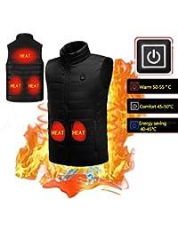 KOBWA Chaleco calentador eléctrico, chaleco de chaleco para hombre y mujer, abrigo térmico para
