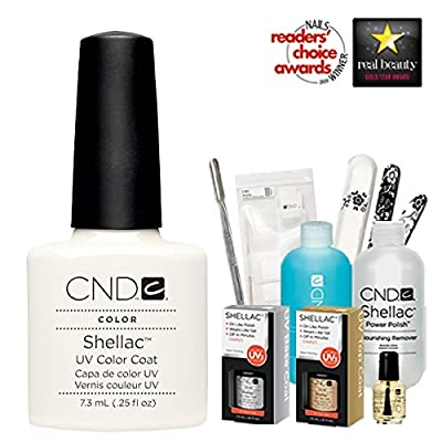 Cnd Shellac Usa Starter Kit - Studio White Colour Starter Kit - Top & Base Coat + Essentials