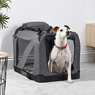Your Home Folding Pet Crate, Travel Carrier for Dogs & Cats with Fleece Mat & Carry Handle from Clifford James