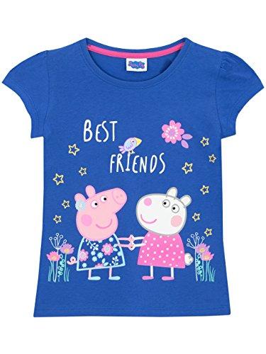 Peppa Pig Mädchen Peppa Wutz T-Shirt Kurzarm 104 (Top Kurzarm-pj)