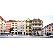 Görlitz Deutschland Magnet ( 8 x 3.5 cm ) Untermarkt   Zeile Panorama Streetline T3695P14191