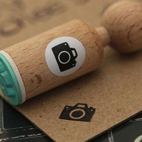 Cámara muy Mini sellos de goma de madera del arte/Scrapbooking/sellado