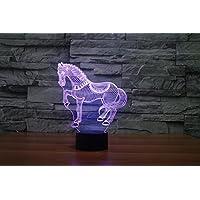 Lampada cavallo 3D acrilico lampada di notte