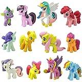 Vovotrade 12PC / Set My Little Pony-Kuchen-Deckel-PVC-Spielzeug-Geschenk Figuren Dekoration