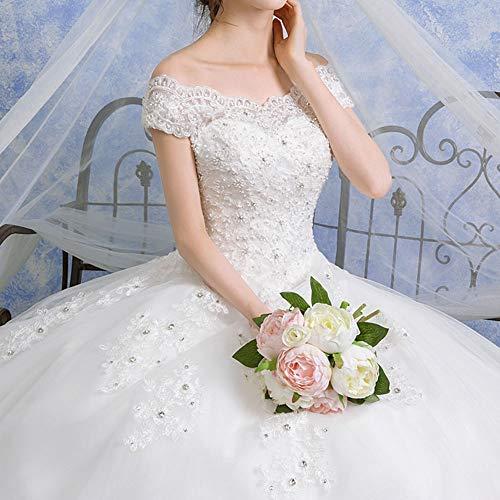 ZSRHH-Kleid Frauenkleid Braut Prinzessin Long Tail Brautkleid New Wedding Dress (Design : Trailing, Size : XXL)