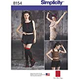 Simplicity pattern 8154 Misses 'alternative Fashion elegante e casual pezzi per cucito, bianco, dimensioni d5-p, Carta, White, CARPET Uni Pink; Size: Ø120cm Round