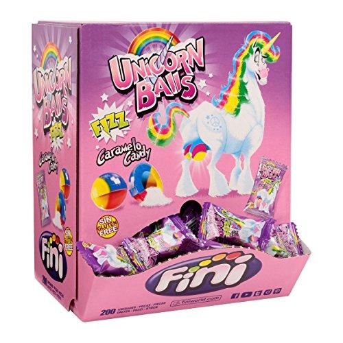 Fini - Unicon Balls - Einhorn Bonbons - Brausefüllung - Box mit 200 Stück