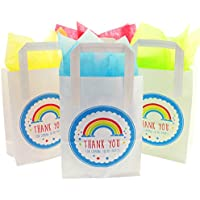 """Paper Party Bags with """"Thank You For Coming To My Party"""" Design with Tissue Paper"""