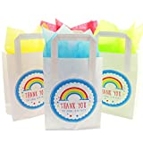 The Curious Caterpillar White Paper Party Bags Thank You For Coming To My Party Design with Tissue Paper (8x Rainbow and Tissue Paper)