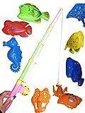 Spielzeug Angelspiel, A95/00, 11 tlg. Spiel mit großen Tieren in praktischer Transportbox! Mit Magneten...Angelspaß nicht nur für Kinder, Geschenk-idee für Jungen und Mädchen für Weihnachten und zum Geburtstag, Geburtstags-Geschenk