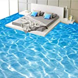 Mbwlkj Tapete 3D Wallpaper Moderne Meerwasser Foto Wandaufkleber Badezimmer Schlafzimmer Pvc Wasserdichte 3D Bodenfliesen Vinyl Wand-450cmx300cm
