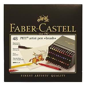 Faber-Castell 167148 Feutre PITT artist pen studio box de 48