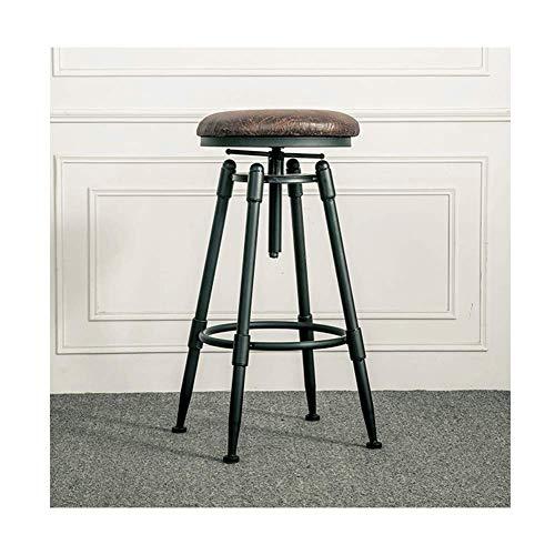 Américain en fer forgé tabouret de bar tabouret de bar design industriel rétro ascenseur rotatif chaise haute salle à manger chaise pin, matériel en fer forgé-1