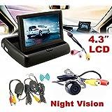 Kit de aparcamiento, Hansee® 4.3Monitor de visión trasera para coche inalámbrico para coche cámara de copia de seguridad sistema de aparcamiento Kit