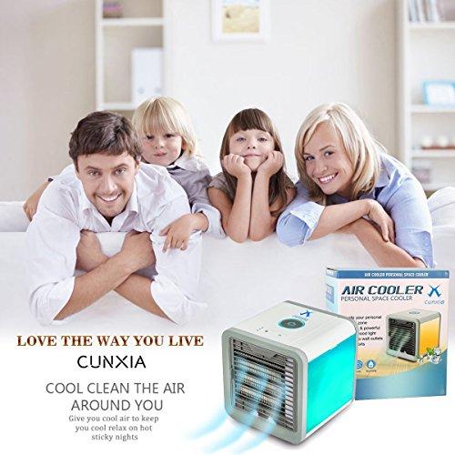 Aire Acondicionado Móvil para Escritorio / Hogar / Oficina 3 en 1 Ventilador más frío Humidificador & Purificador de Aire Personal USB Climatizador Portátil