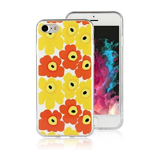 MOONCASE iPhone 7 Coque, Ultra Mince Motif Etui Souple TPU Silicone Antichoc Housse Case pour iPhone 7 (Fleur 04) Fleur 05