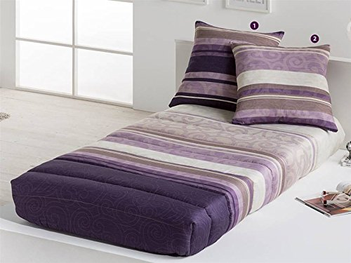 LaNovenaNube - Edredón Ajustable CLIO cama 105 - Color Malva