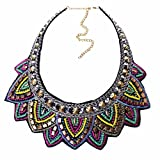 Mode Coloree Torsadee Main Dossard Collier Ruban De Declaration Collier Femmes