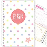My Foody Diary: Diabetes (6 Monate) handgemacht, Nahrungstagebuch, Insulinverfolger, Diabetesprotokoll, Glukoseprotokoll, A5 (Rainbow Dots)