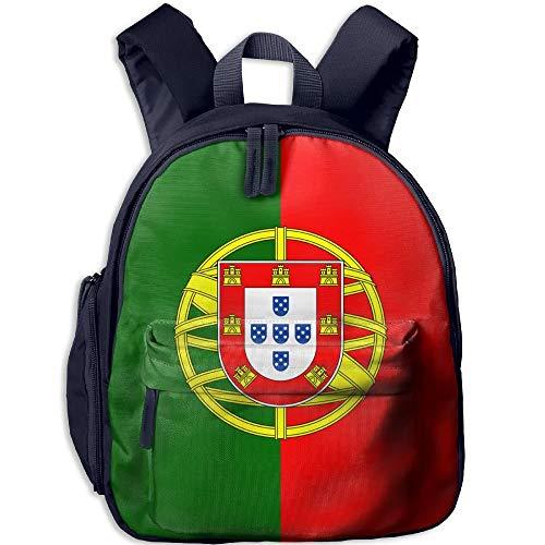 Flag of Portugal Kid and Toddler Student Backpack School Bag Super Bookbag