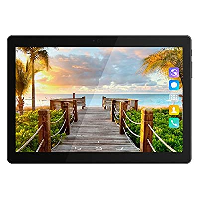 PADGENE® 10.1 Inch Android Tablet 16 GB Tablet PC 64 Bit Quad Core up to 1.3 GHZ Processor MTK 6580 Pad Dual Camera 2MP+5MP,Built in 2 Normal Sim Card Slots, Bluetooth, GPS, WIFI [2017