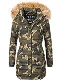 Navahoo Damen Winter Mantel Steppmantel Täubchen (vegan hergestellt) Camouflage Gr. M