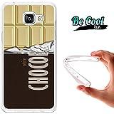 BeCool® Fun - Coque Etui Housse en GEL Flex Silicone TPU Samsung Galaxy A5 2016 , protège et s'adapte a la perfection a ton Smartphone et avec notre design exclusif.Tablette de chocolat blanc