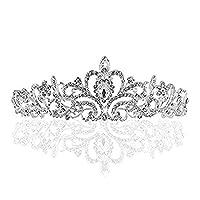Riva Schmuck Elegante Retro Silberne Ton Strass Kristall Tiaras Krone die Diamant Braut Hochzeit Haar Band
